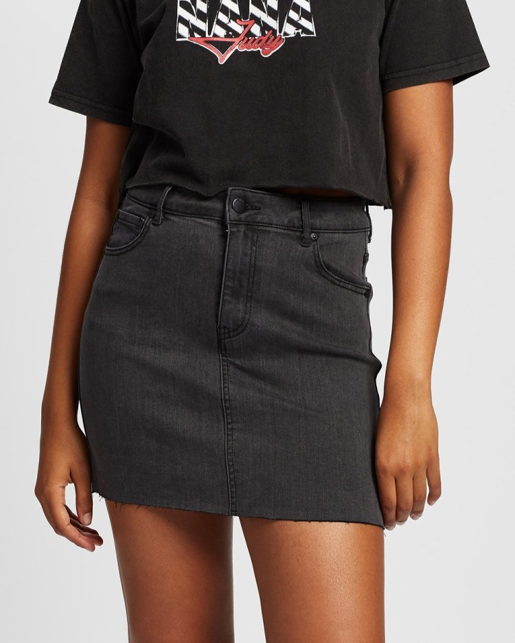 All About Eve Isabella Mini Skirt Jeans WASHED BLACK