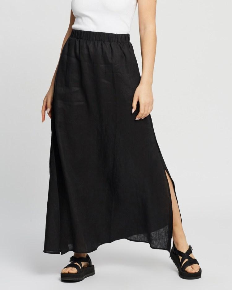 AERE Split Maxi Skirt Skirts Black