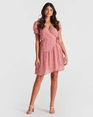 Stella - Sugar Drop Dress - Printed Dresses (Blush/Milk) Sugar Drop Dress