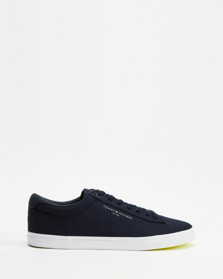 Tommy Hilfiger Essential Stripes Textile Vulc Men's Sneakers Desert Sky
