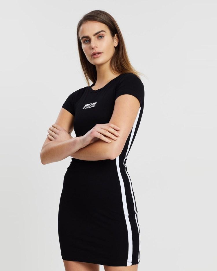 VILLIN Gigi Tennis Dress Dresses Black & White
