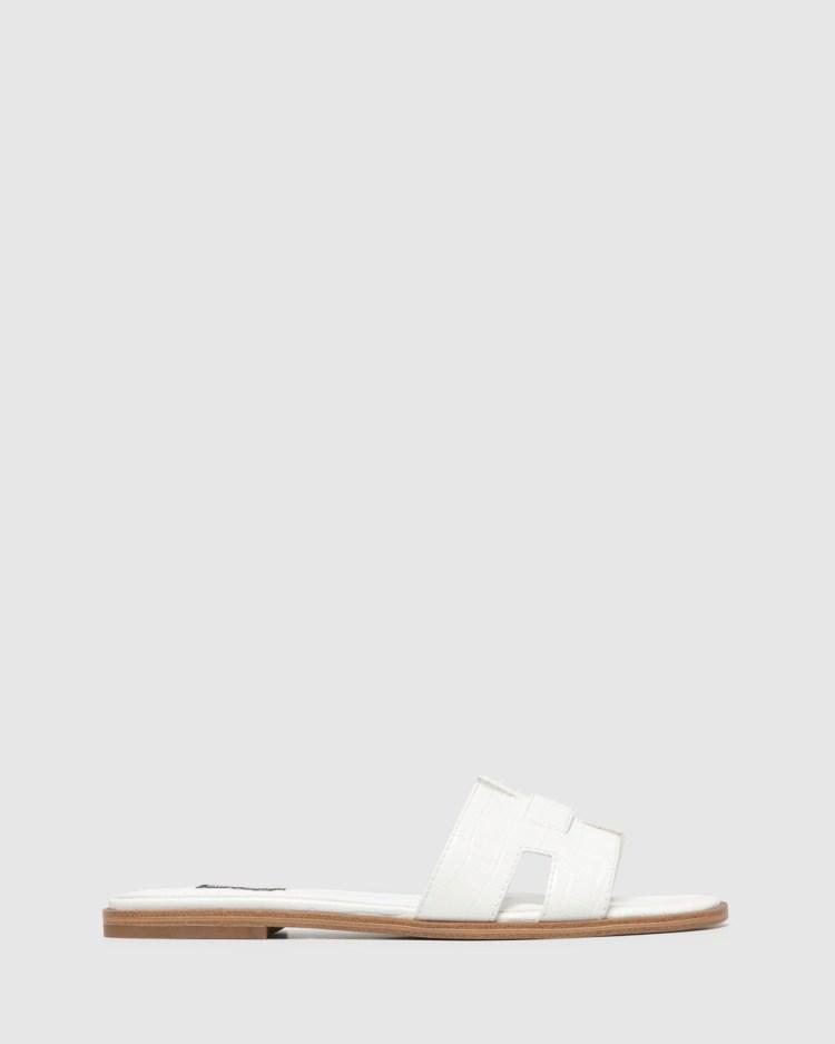 Nine West Gianna Sandals WHITE CROC