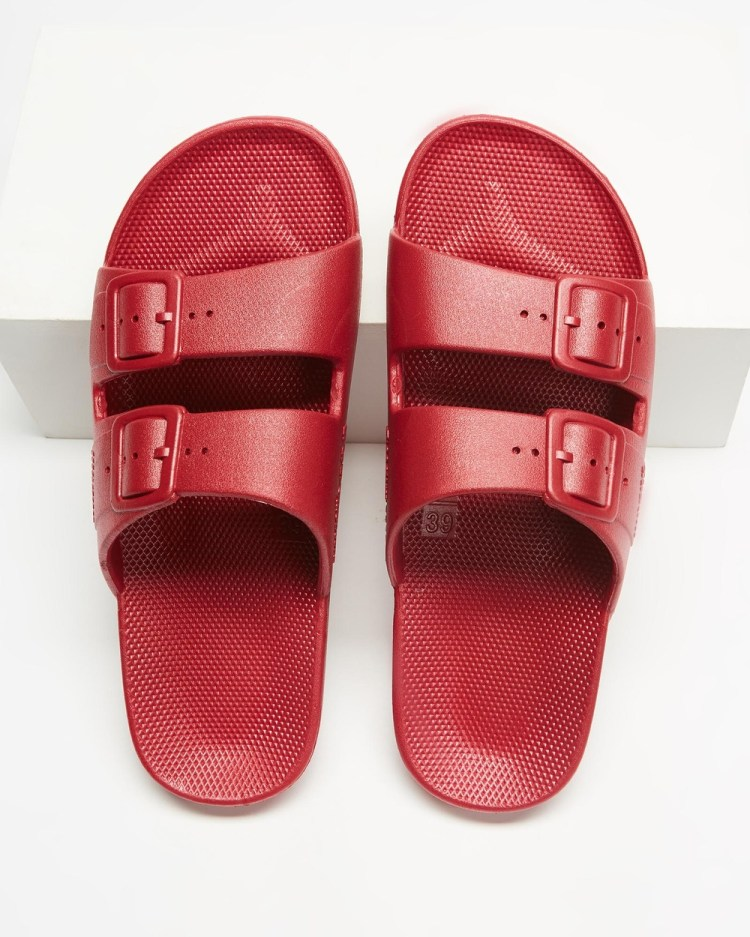 Freedom Moses Slides Unisex Casual Shoes Cherry Bomb
