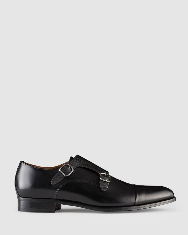 Aquila Defoe Monk Strap Shoes Dress Black