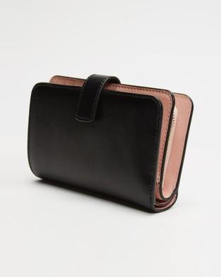 Kate Spade - Spencer Compact Wallet - Bags (Black) Spencer Compact Wallet
