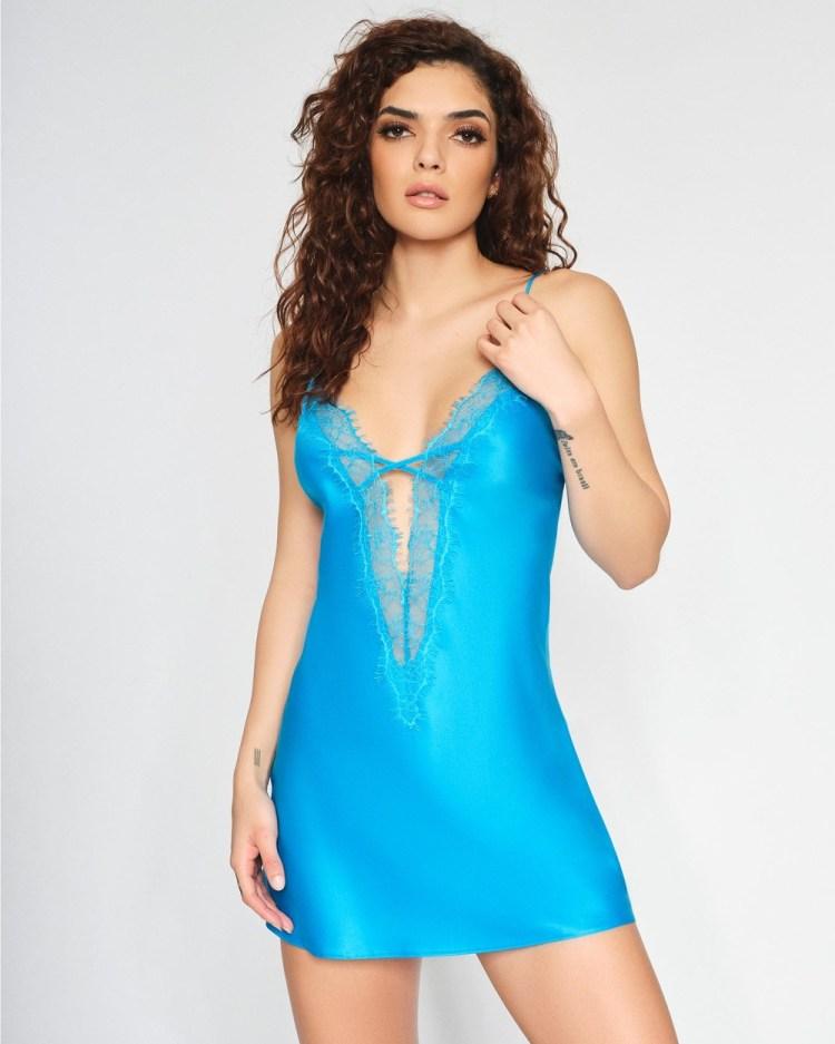 Ann Summers Cherryann Chemise Sleepwear Blue