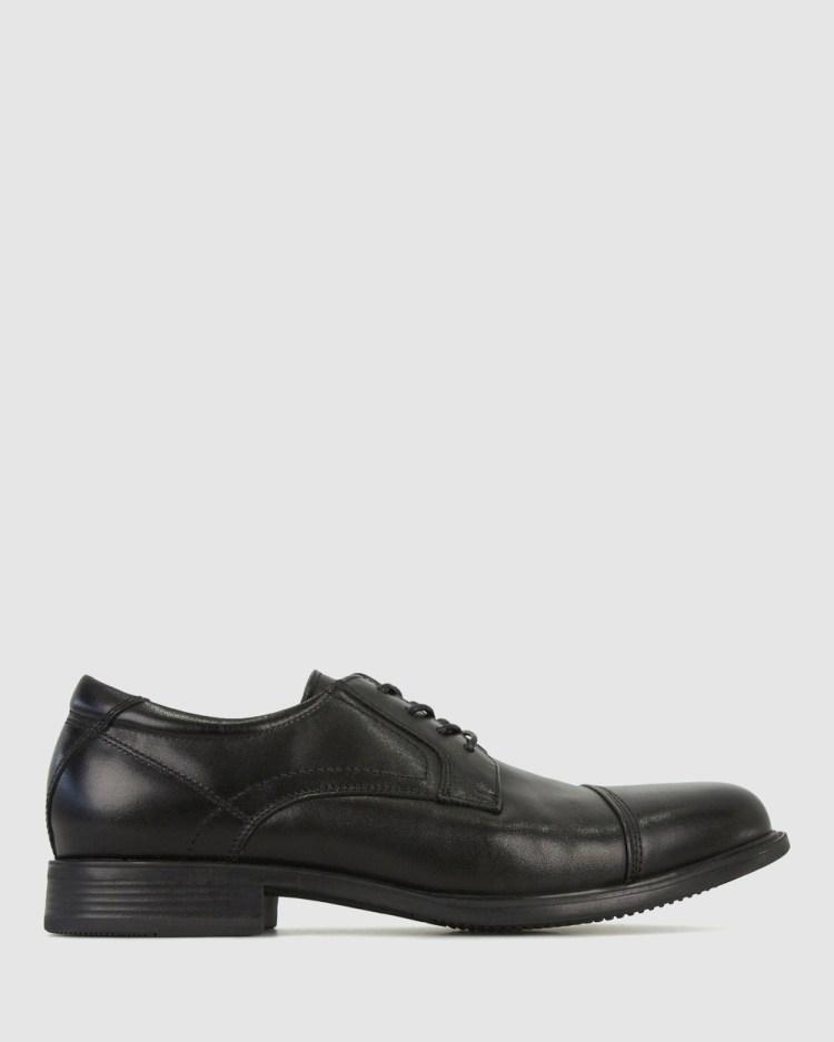 Airflex Defiant Leather Derby Dress Shoes Tan
