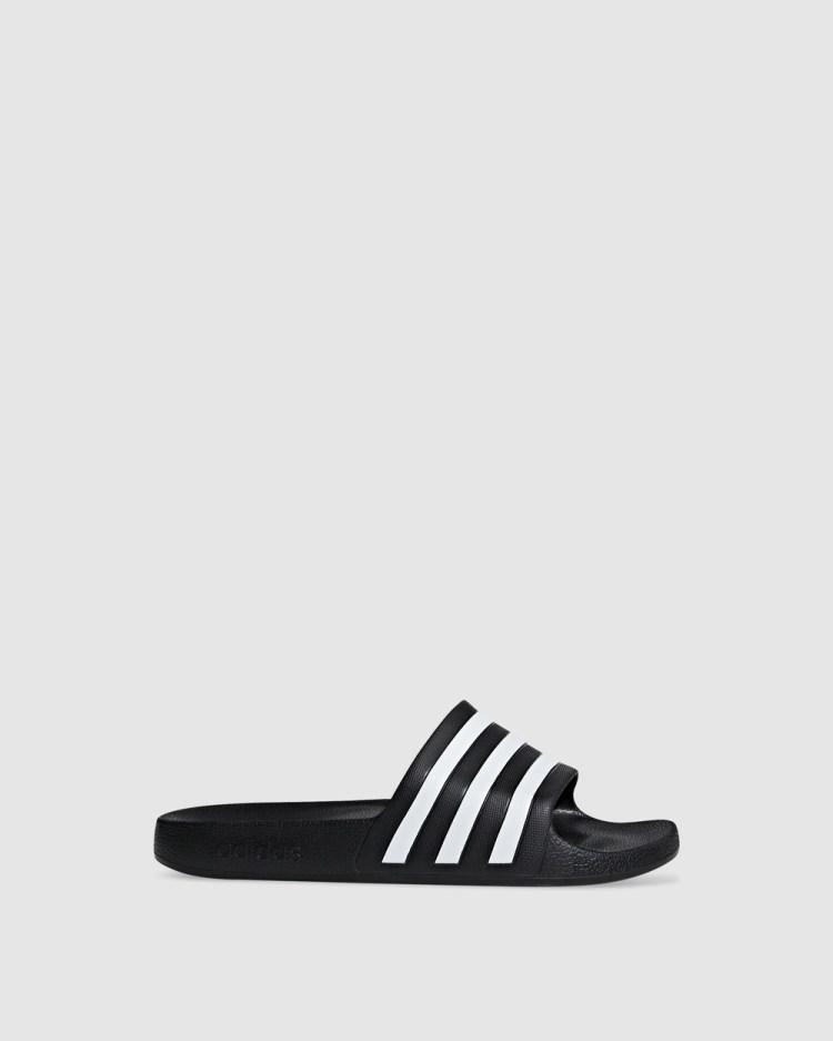 adidas Performance Adilette Aqua Slides Sandals Black