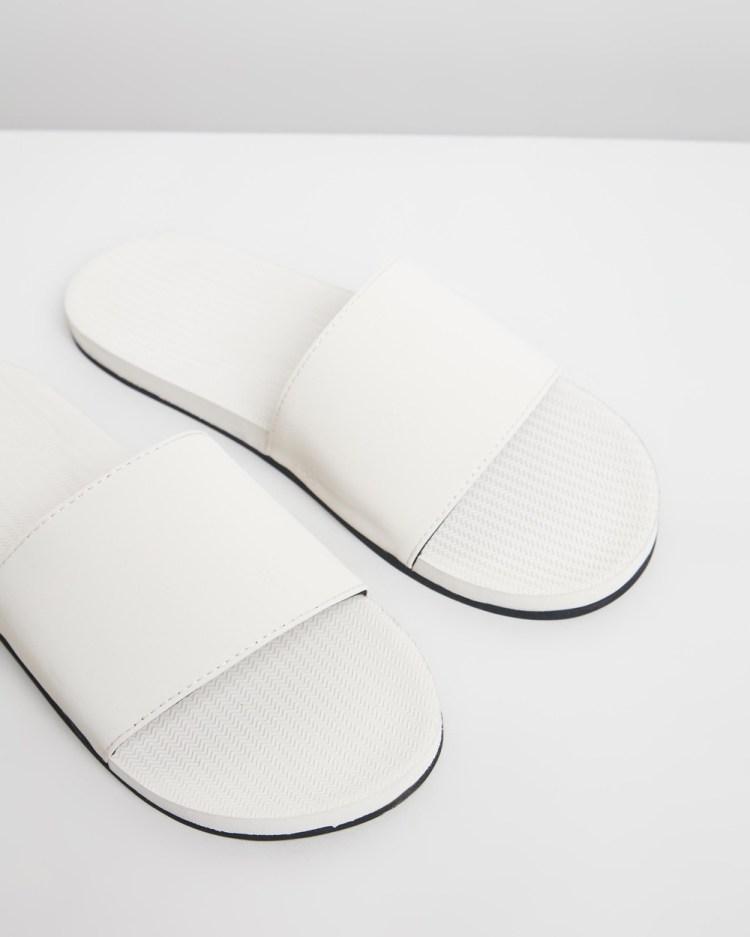 Indosole ESSENTLS Slides Men's Casual Shoes Sea Salt