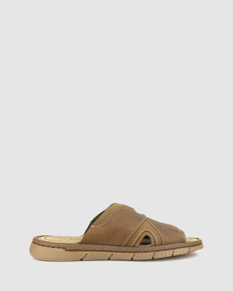 Airflex Guard Mixed Textile Slide Casual Shoes Tan