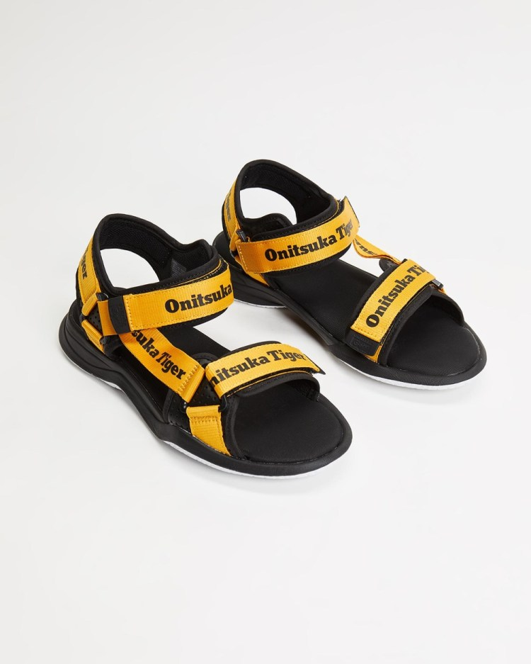 Onitsuka Tiger Obhori Strap Sandals Unisex Casual Shoes Tiger Yellow & Black