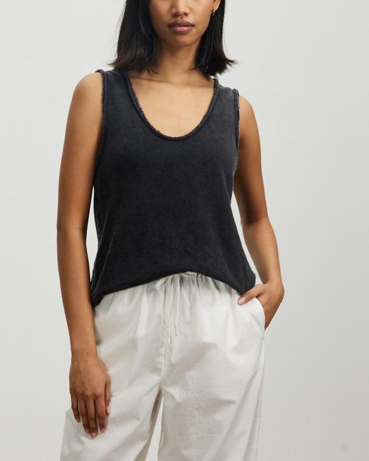 American Vintage Sonoma Tank T-Shirts & Singlets Vintage Black