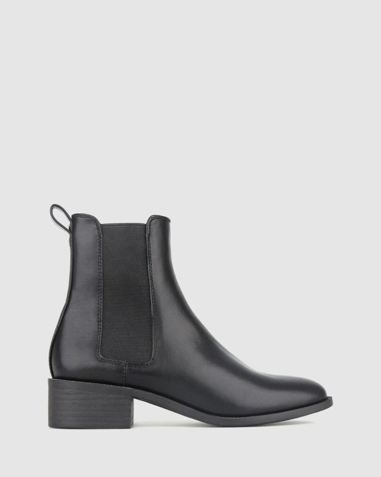 Betts Dream Block Heel Chelsea Boots Mid-low heels Black