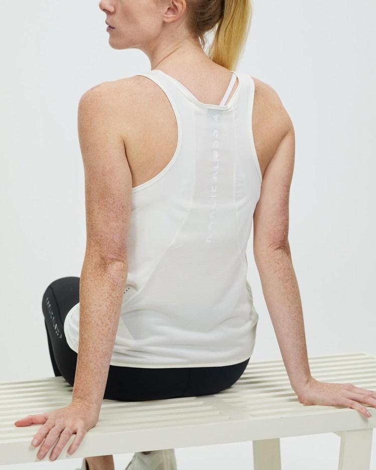 adidas Performance Karlie Kloss Run Tank Top Muscle Tops Off White