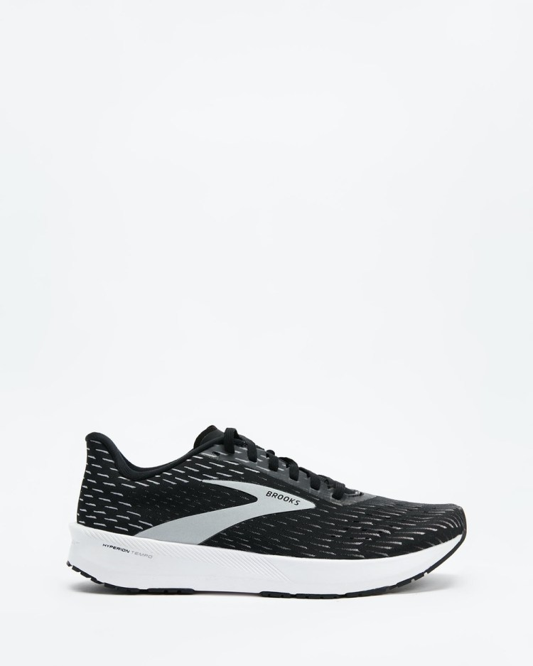 Brooks Hyperion Tempo Mens Performance Shoes Black, Silver & White