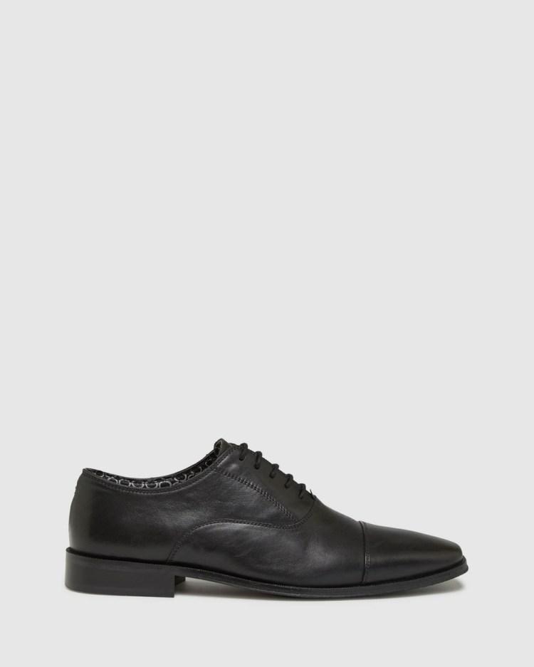 Oxford Huxley Leather Shoes Dress Black