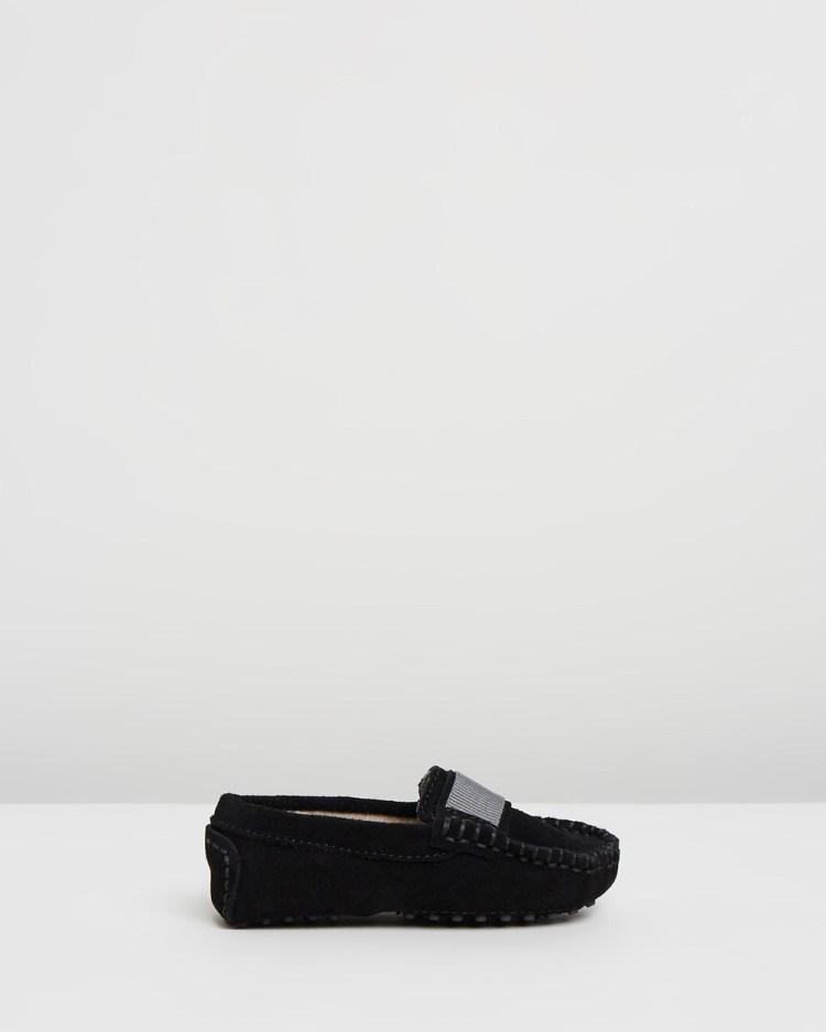 Oscars For Kids Milan Loafers Infant Dress Shoes Black Suede