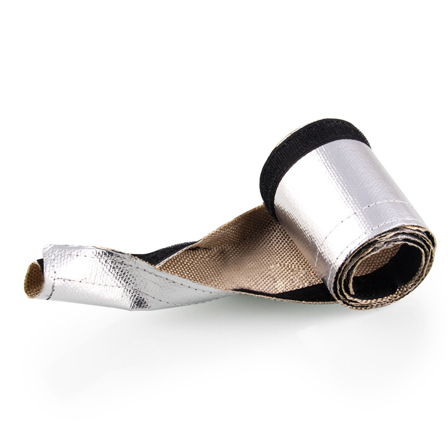 medium resolution of l 910mm w 85mm silver exhaust pipe insulation thermal heat wrap insulated wire hose cover
