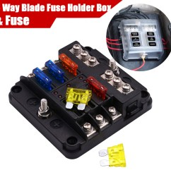 details about 6 way car auto boat bus utv blade fuse box block with 12pc fuse led indicator [ 1200 x 1200 Pixel ]