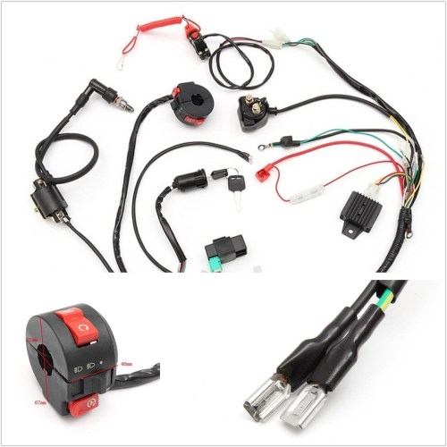 small resolution of details about professional cdi motorcycle wiring harness loom solenoid coil rectifier 50 125cc