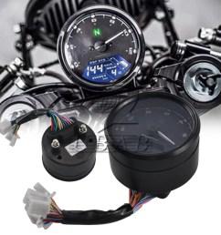 details about abs multi function led lcd digital moto odometer tachometer speedometer gauge [ 900 x 900 Pixel ]