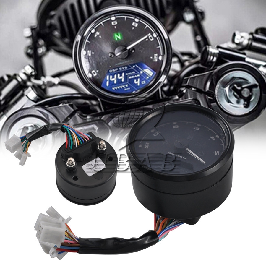 medium resolution of details about abs multi function led lcd digital moto odometer tachometer speedometer gauge