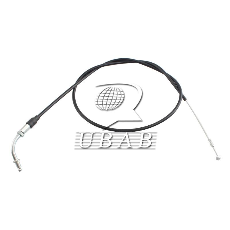 Black 110CM Throttle Cable Wire Set For Harley-Davidson