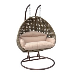 Egg Swing Chair Wheelchair With Seat 2 Person Wicker Basket Patio Outdoor