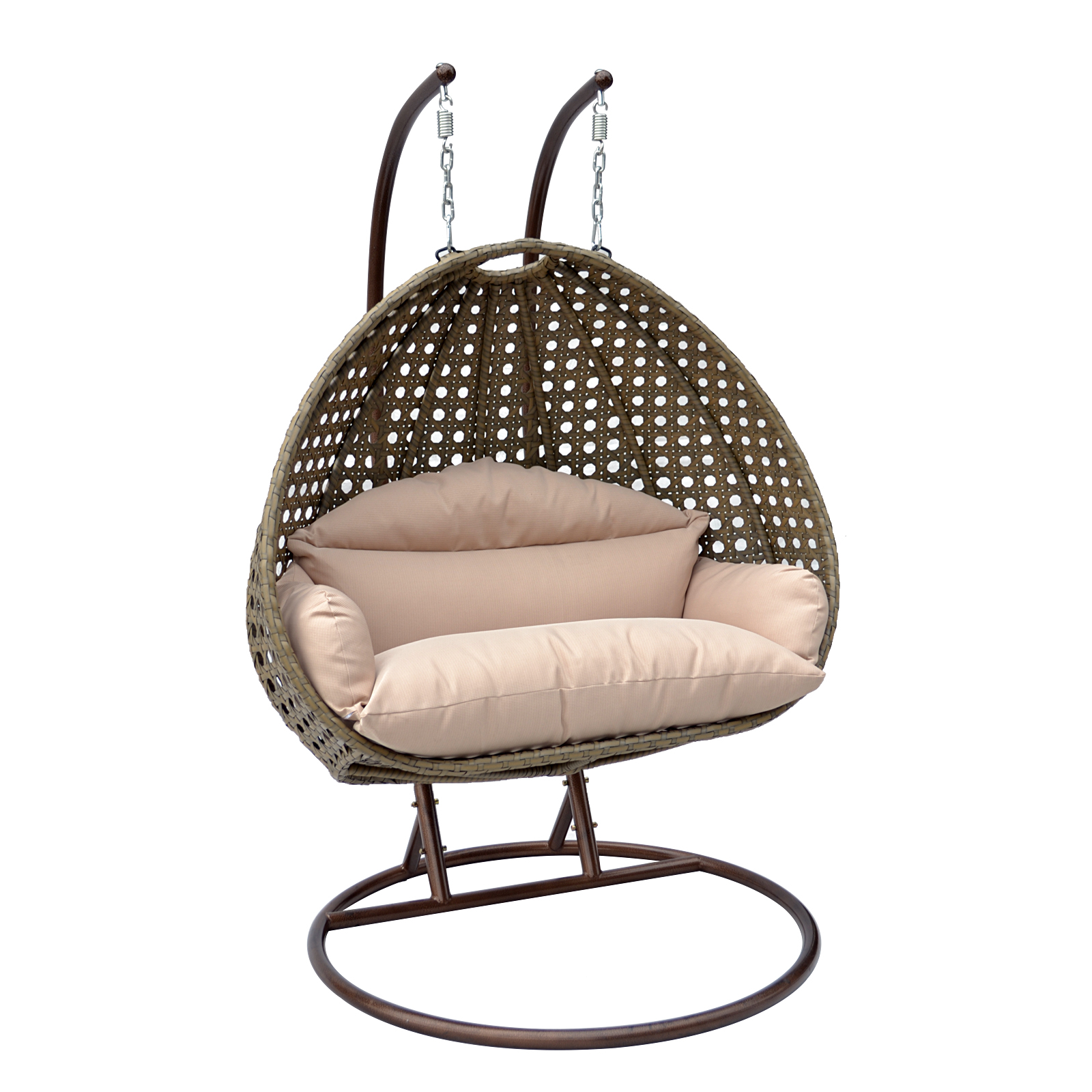 Rattan Swing Chair Egg Chair 2 Person Wicker Egg Basket Swing Chair Patio Outdoor
