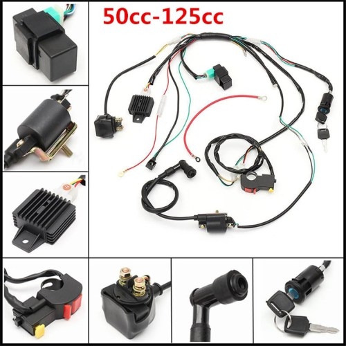 small resolution of 50cc 125cc cdi wire harness stator assembly wiring chinese atv 50cc chinese atv wiring harness
