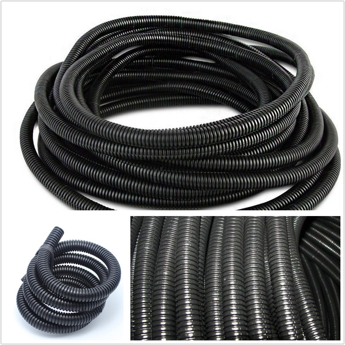 hight resolution of details about 1 25mm black diy 10m car automotive split wire loom conduit polyethylene tubing