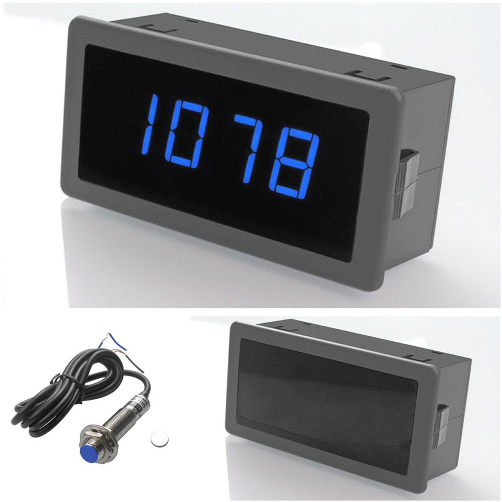 medium resolution of details about 4 blue digital led tachometer rpm hall proximity switch sensor npn 60 x 10mm