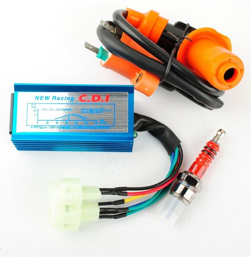 small resolution of high performance racing ignition coil spark plug ac cdi for gy6 50cc scooter atv