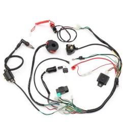 universal wiring harness loom solenoid coil rectifier cdi 50 70 90 110 125cc atv quad bike go kart [ 900 x 893 Pixel ]