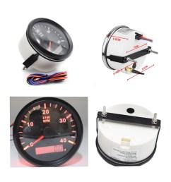 details about car marine tachometer 4000 rpm diameter 85mm 9 32v dc lcd tacho hour meter [ 1200 x 1200 Pixel ]
