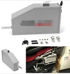 details about 5l aluminum motorcycle bikes box toolbox for 2014 2018 bmw r1200gs lc adventure [ 900 x 900 Pixel ]
