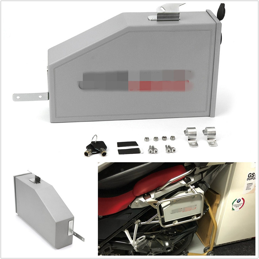 hight resolution of details about 5l aluminum motorcycle bikes box toolbox for 2014 2018 bmw r1200gs lc adventure