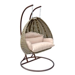 Egg Swing Chair Oversized Slipcover 2 Person Wicker Basket Patio Outdoor