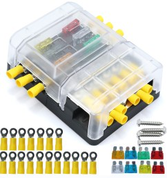 details about car boat 6 way junction box fuses holder terminal kits with waterproof cover [ 2000 x 2000 Pixel ]