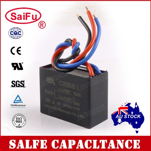 small resolution of details about saifu cbb61 1 5uf 2 5uf 3 wires ac 250v 50 60hz capacitor for ceiling fan oz