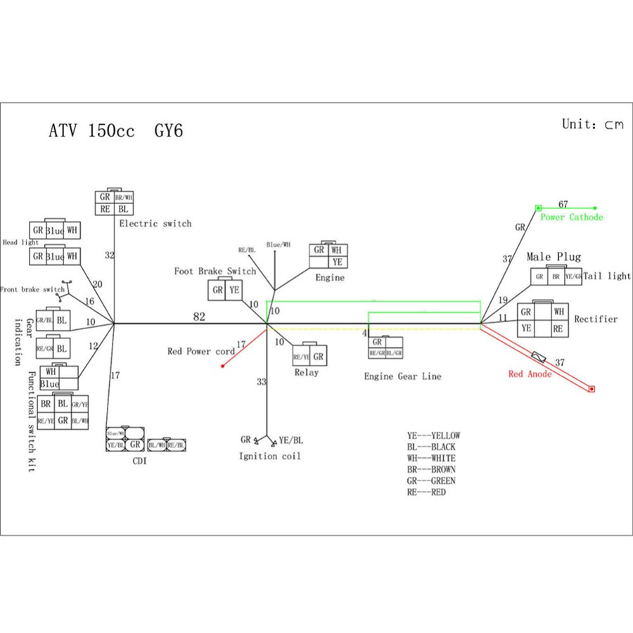 hight resolution of  atv motorcycle quad 125 250cc stator cdi coil electric wiring on howhit