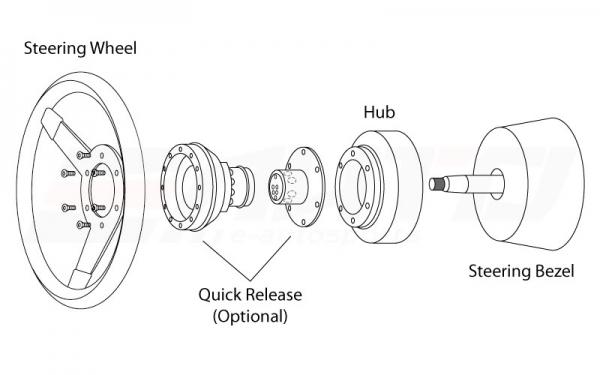 Car 6 Bolt Steering Wheel Hub Adapter Boss Kit for Ford