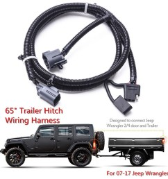 details about 65 4 way trailer tow hitch wiring harness for 07 17 jeep wrangler jk 2 4 [ 1200 x 1200 Pixel ]