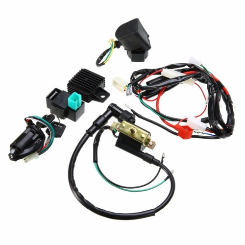 small resolution of details about motorcycle ignition wiring harness kit for 50cc 110cc 125cc quad dirt bike atv