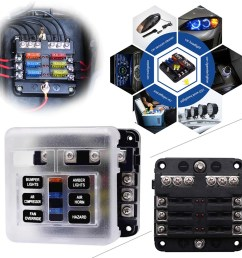 details about 6 way blade led fuse holder box block case atc ato car truck boat marine bus 32v [ 1001 x 1001 Pixel ]