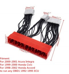 details about obd2a to obd1 conversion ecu jumper wire harness adapter for civic accord acura [ 1200 x 1200 Pixel ]