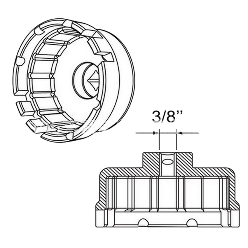 Corolla Highlander RAV4 Oil Filter Cap Wrench For Lexus