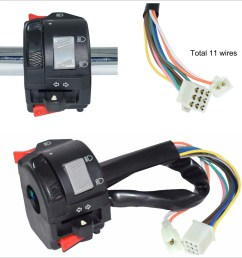 details about 22mm motorcycles handlebar control switch w 11 wiring harness for horn fog light [ 1204 x 1204 Pixel ]