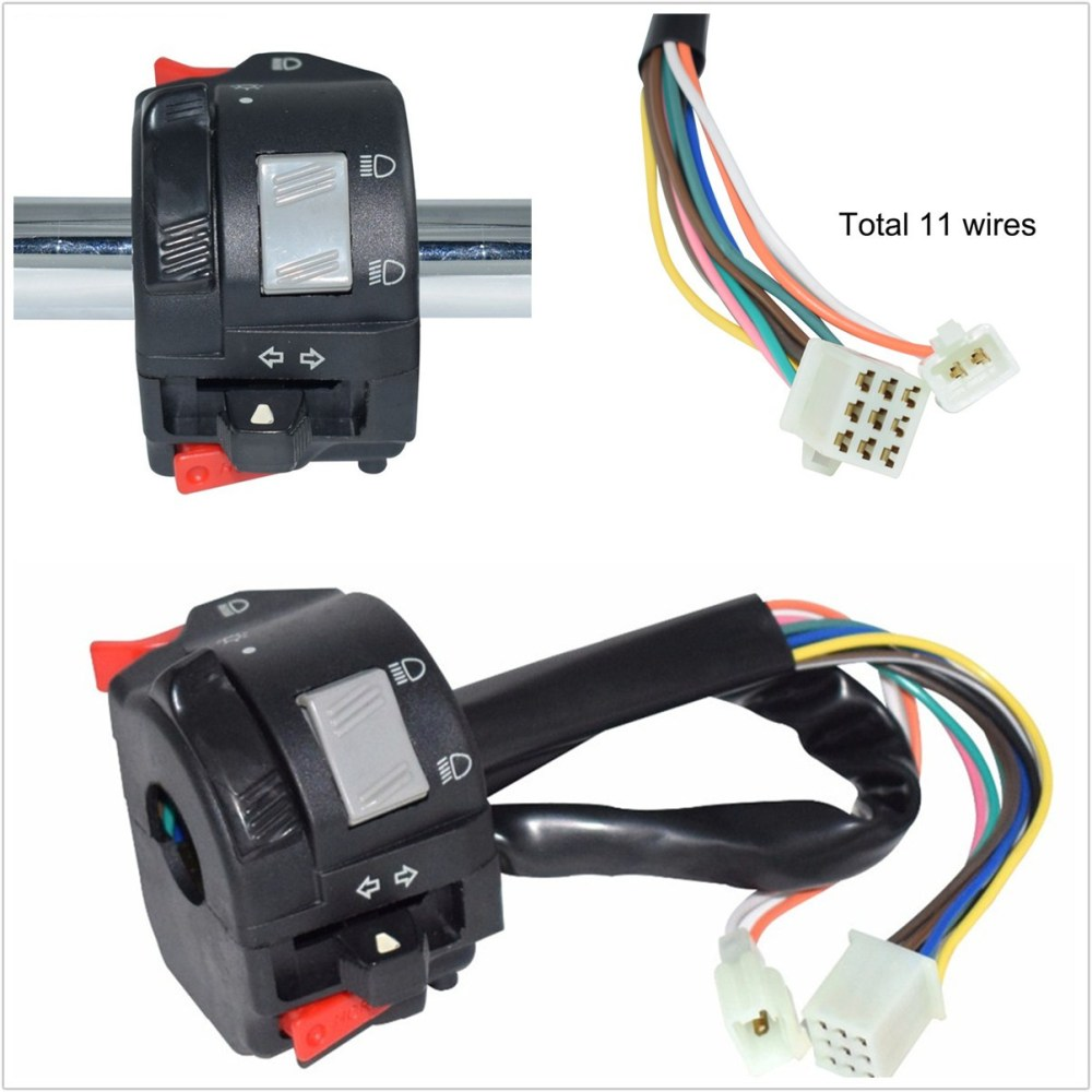 medium resolution of details about 22mm motorcycles handlebar control switch w 11 wiring harness for horn fog light