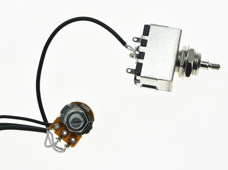 Prewired Wiring Harness 1V1T Push Pull Tone 500K Mini Pots